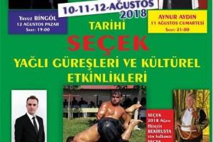 SEÇEK Yağlı Güreşleri ve Kültürel Etkinlikleri 10,11,12, Ağustos tarihlerinde düzenlenecek